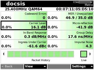 DOCSIS 3.0 Cable Modem at 25.4 MHz upstream bonded channel