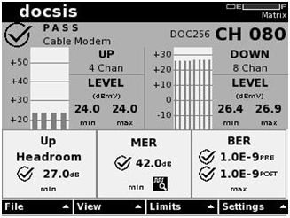 DOCSIS Full Service 8 Downstream x 4 Upstream Channels