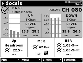 DOCSIS Impaired Service 8 Downstream x 3 Working Upstream