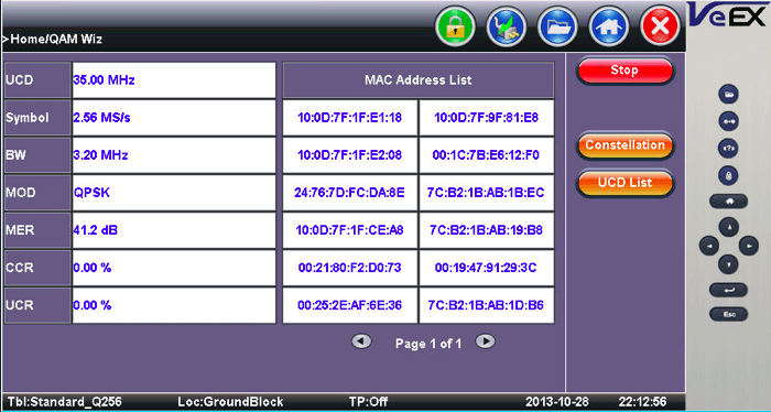 DOCSIS Burst Demod with MAC Address List